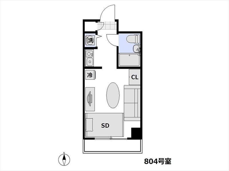 レジデンストーキョー浅草蔵前 804号室