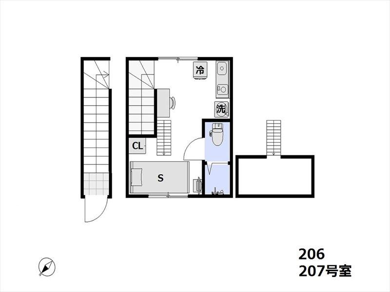レジデンストーキョー大森山王 206,207号室