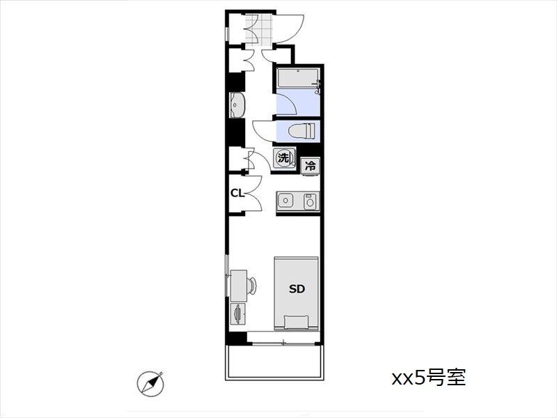 レジデンストーキョー月島駅前 xx5号室
